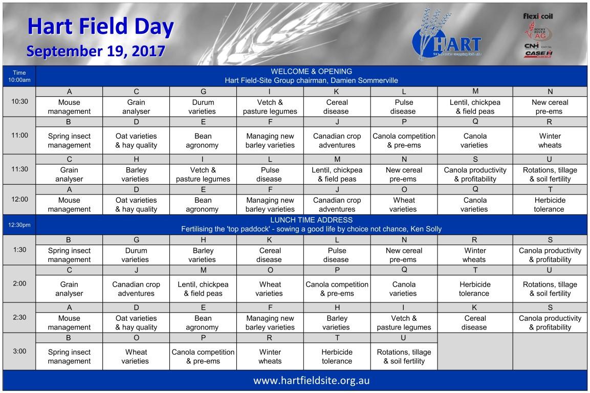 2017 Hart Field Day program