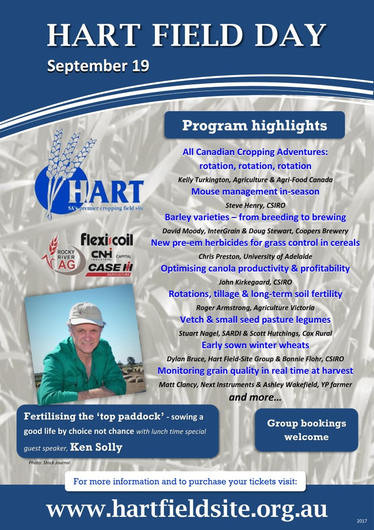 2017 Hart Field Day program highlights