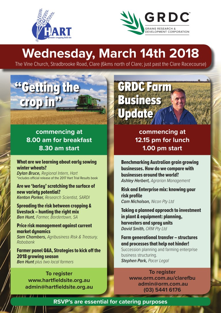 Hart's Getting The Crop In and GRDC's Farm Business Update