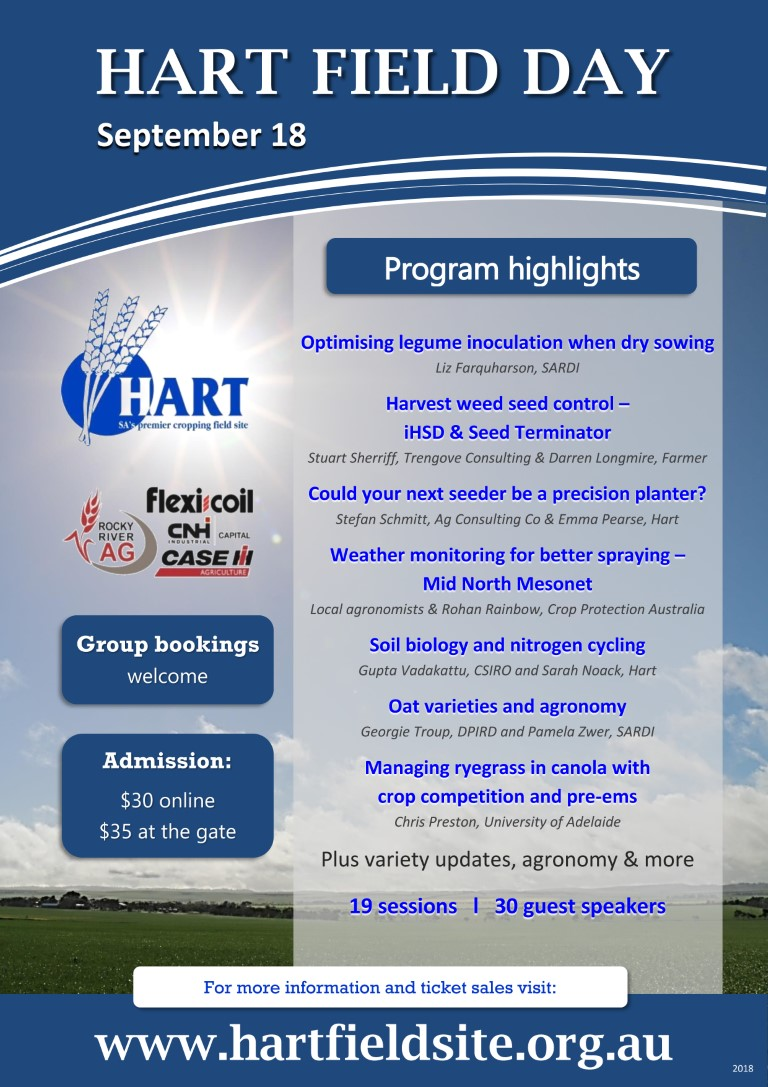 Hart Field Day 2018 Program highlights