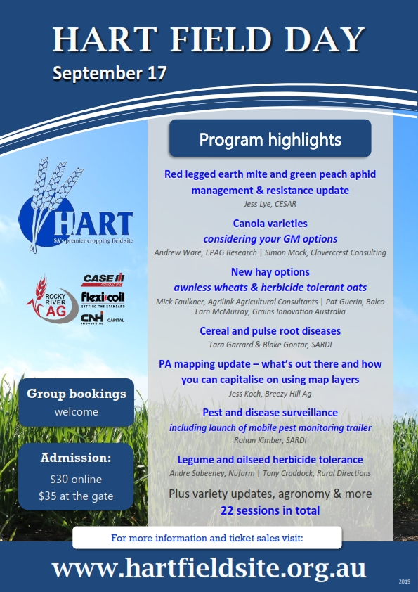 Hart Field Day program highlights 2019