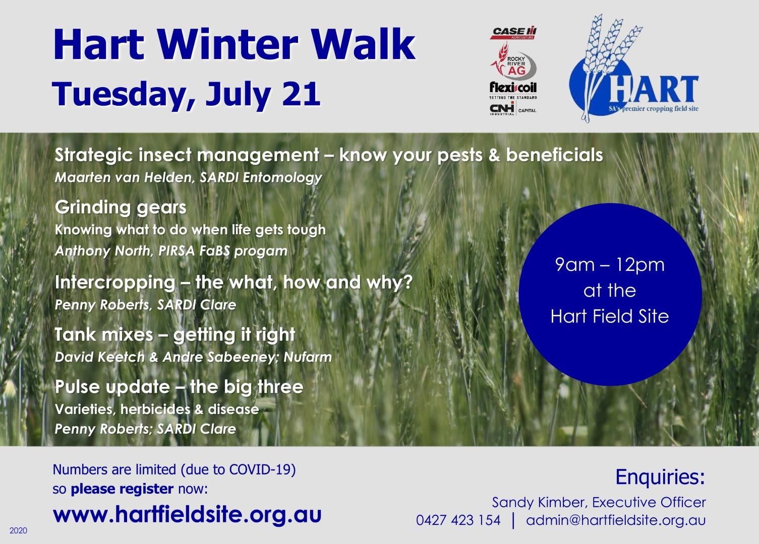Hart Winter Walk - July 21, 2020