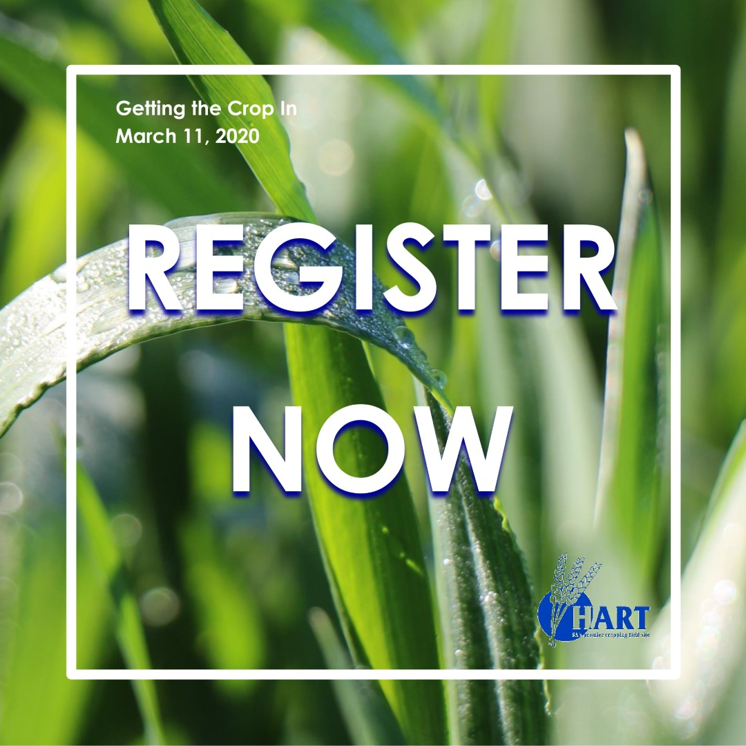 Hart's Getting The Crop In seminar - register now