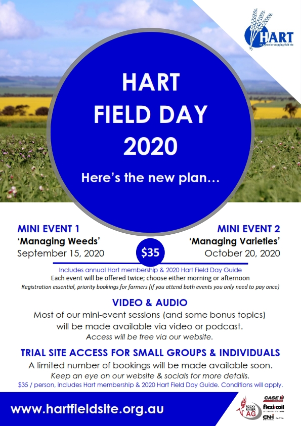 Hart Field Day 2020 - our new plan