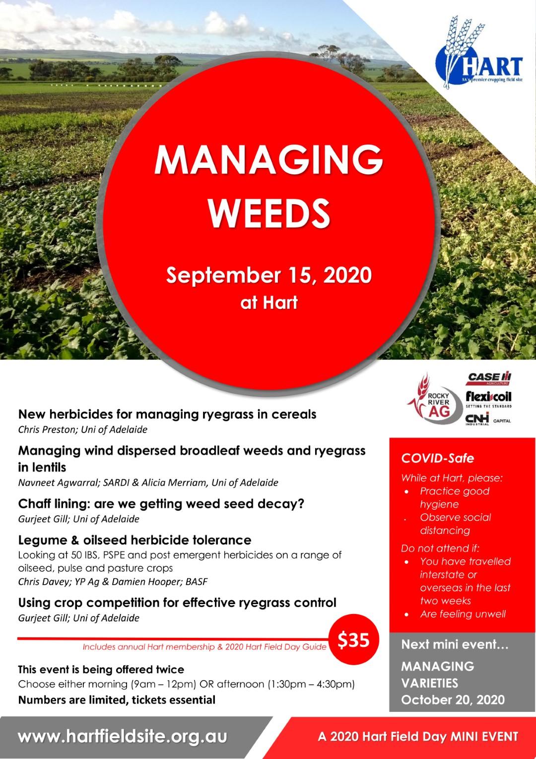 Hart mini-event 'Managing Weeds'