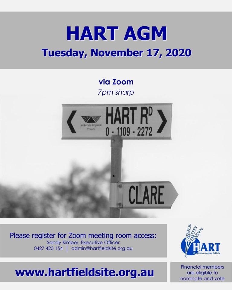 Hart AGM, November 17, 2020