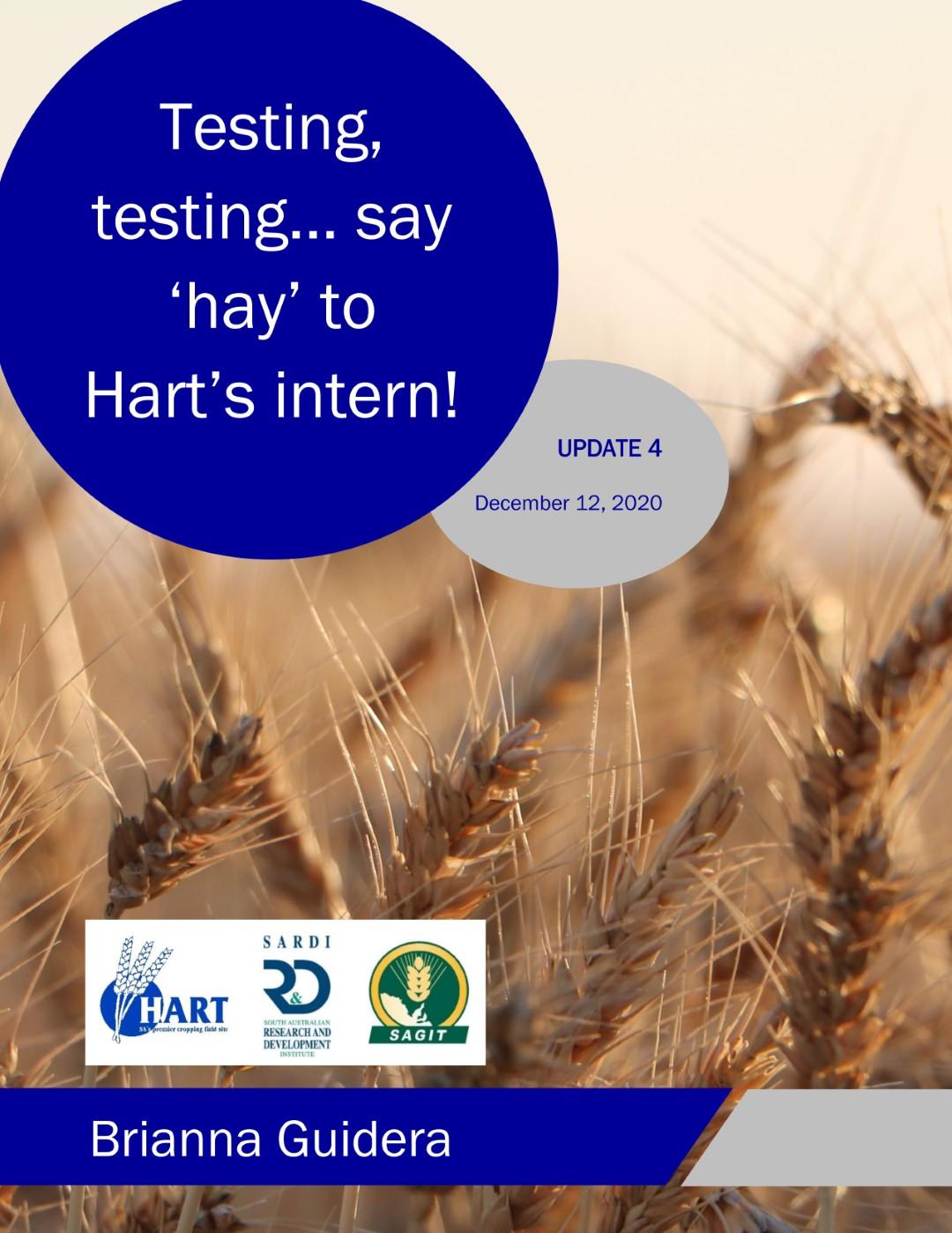 Testing, testing... Say 'hay' to Hart's intern - Brianna Guidera