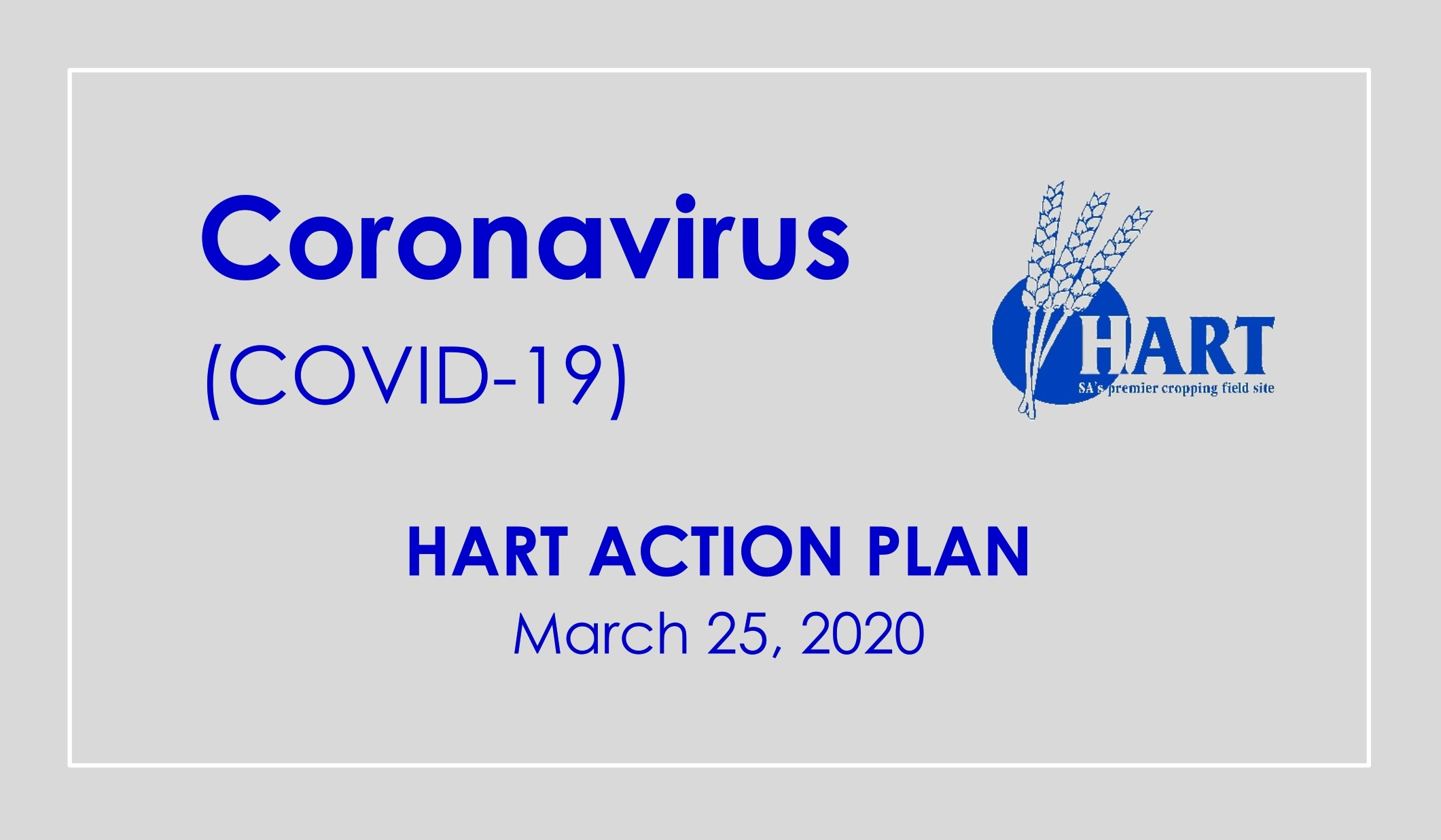 Hart COVID-19 Action Plan | March 25, 2020