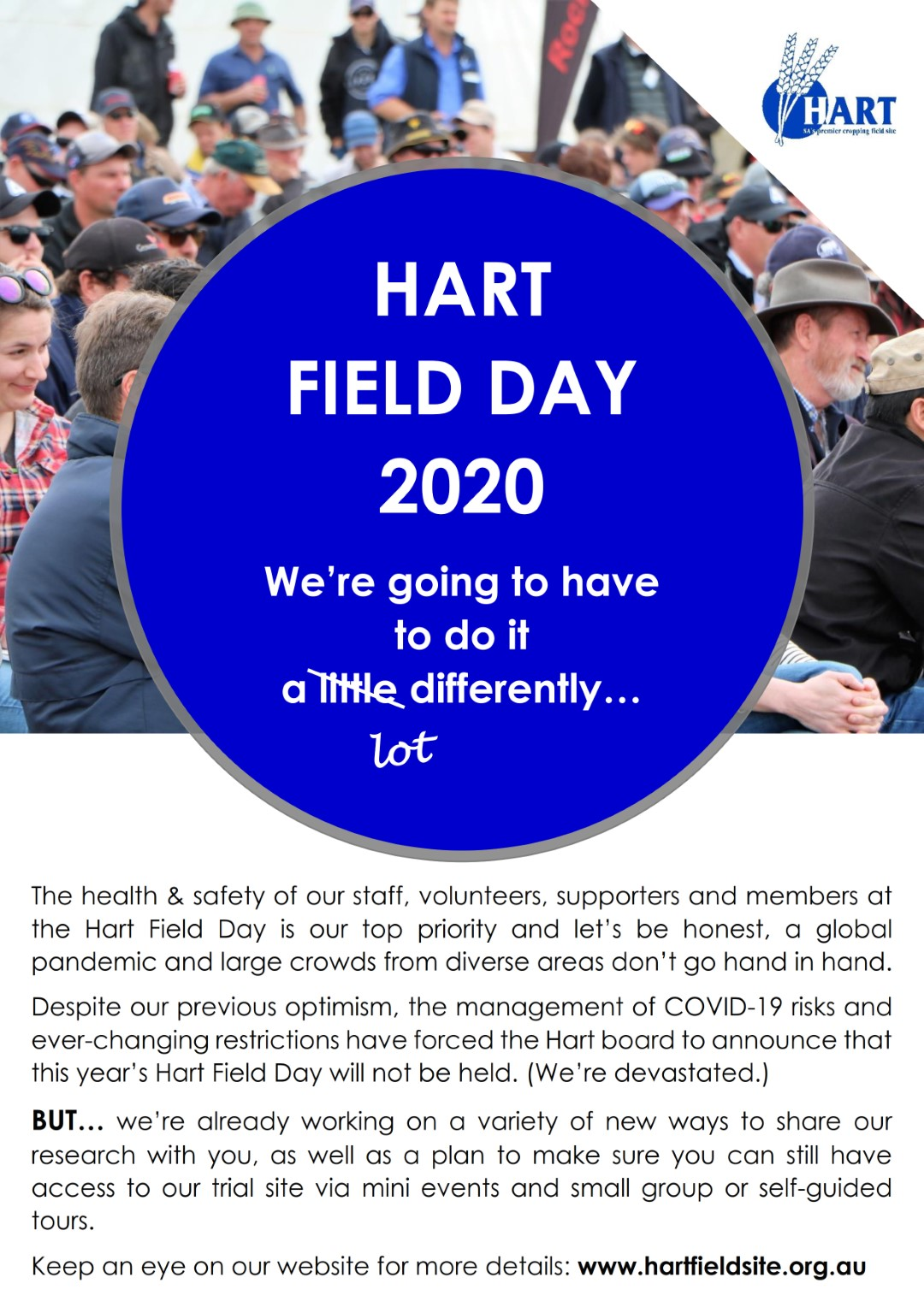 Hart Field Day 2020 - it's going to look a little different