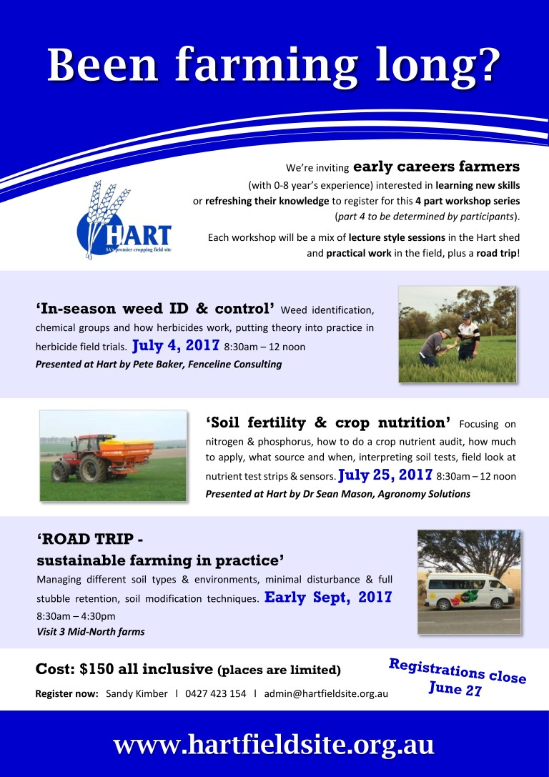 Early Career Farmers workshop series with Hart