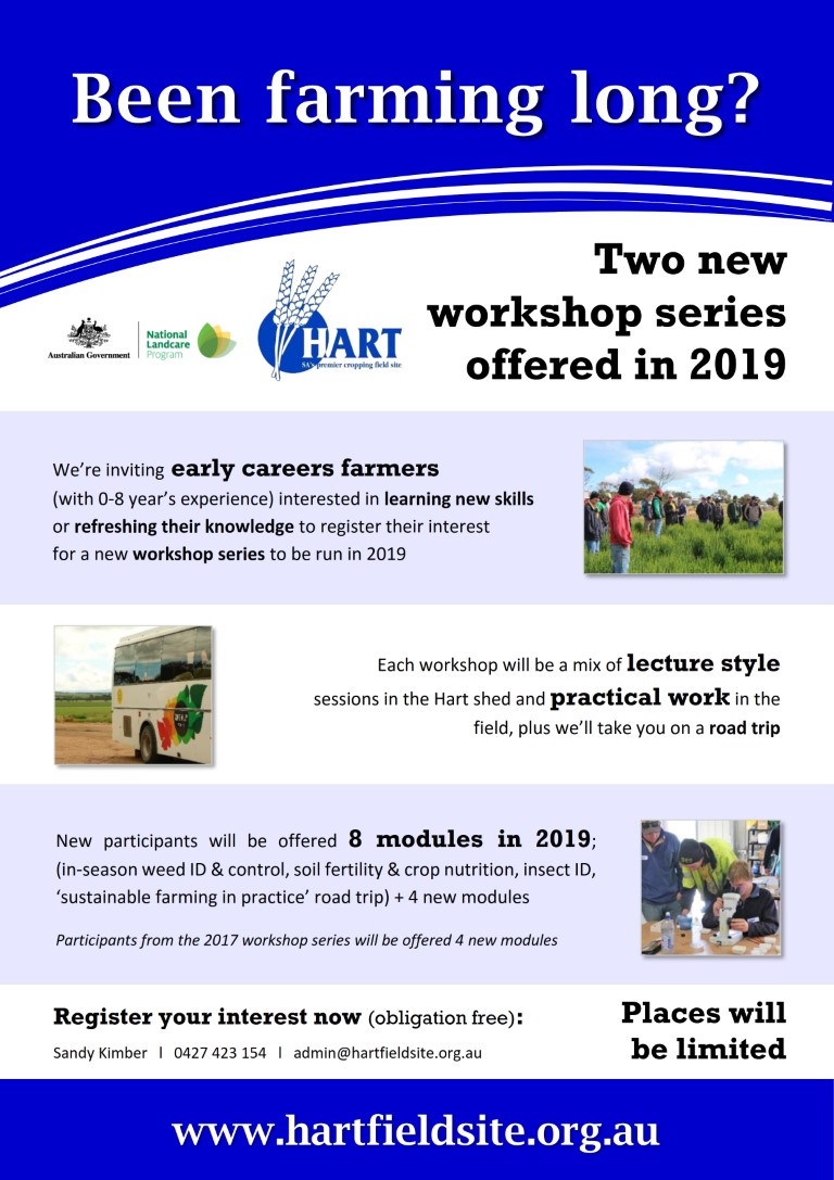 Been Farming Long workshop series for early career farmers 2019