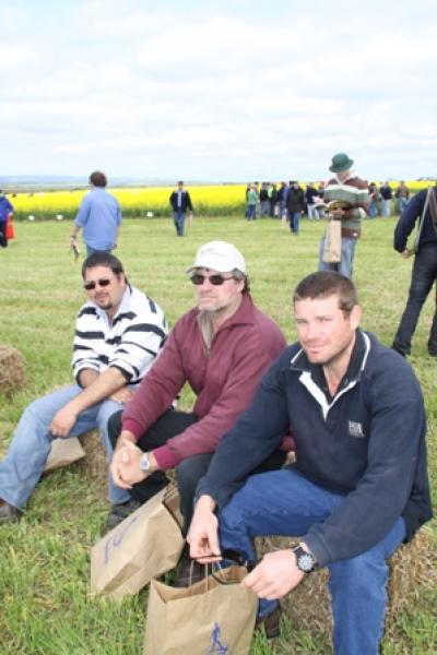 Simon Niemz, Robertstown, Scott Ballantyne and Lee Ballantyne of Gladstone